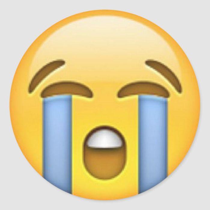 Crying Emoji Sticker Zazzle Com In 2020 Emoji Stickers Crying Emoji Cute Emoji Wallpaper
