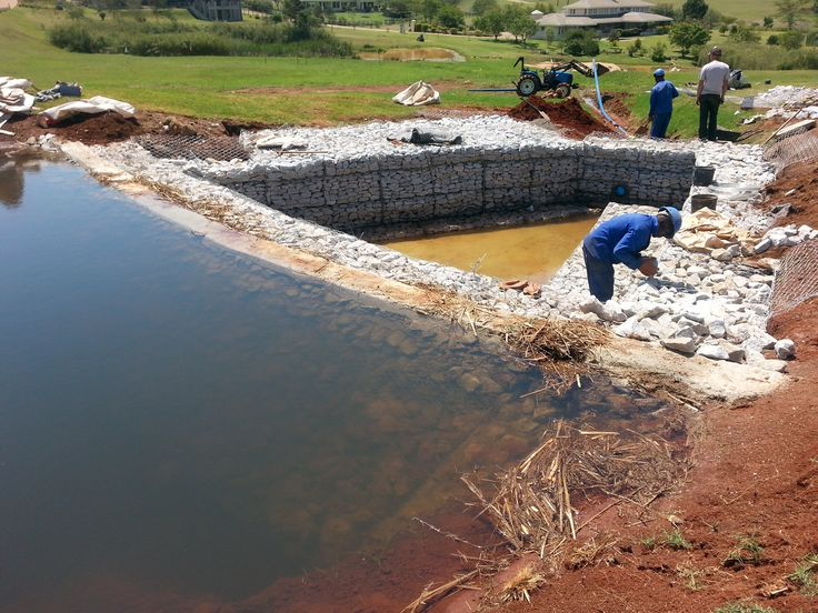 #Settling pond catching water