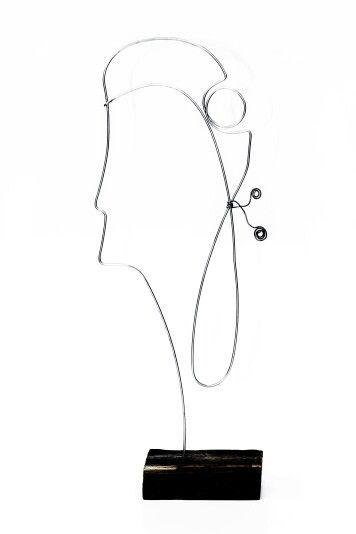 Mademoiselle | 30 x 15 cm | vintage wood & galvanized wire  | contact: artbending@gmail.com |  Photo credit: Paula Gecan