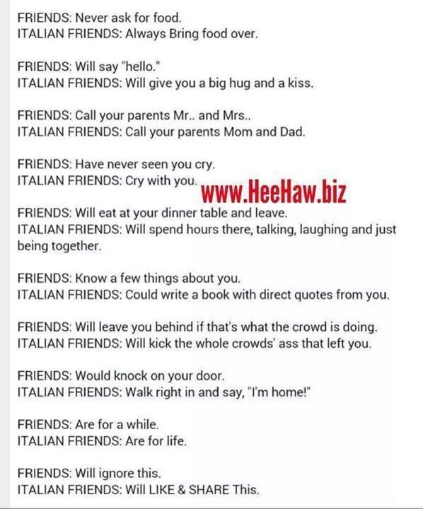US Italian Friends Are The Best!