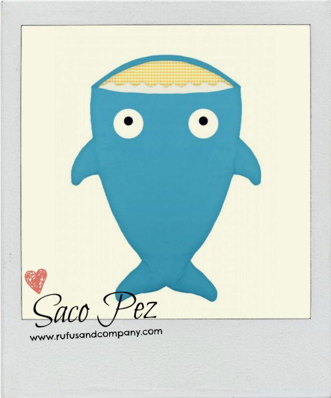 Saco Pez Azul Summer.... para tu bebé, para tu mascota ;-) #BabyBites #Mascotas #Pets