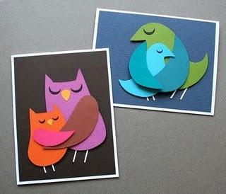 Mama bird cards (tutorial on site)