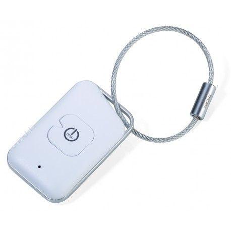 Breloc Bluetooth 4.0 controlat de aplicatie. Il puteti folosi pentru a va gasi cheile sau telefonul (pana la 35m), pentru a va putea face selfie sau a porni inregistrarea audio de la distanta (functie de telecomanda). Functie de marcare locatie. Compatibil iOS si Android. Ambalat in cutie cadou.Realizat din plastic de culoare alb cu gri si inel robust metalic.Design: TROIKA Design WerkstattDimensiuni: 30 * 50 mmGreutate: 15gr