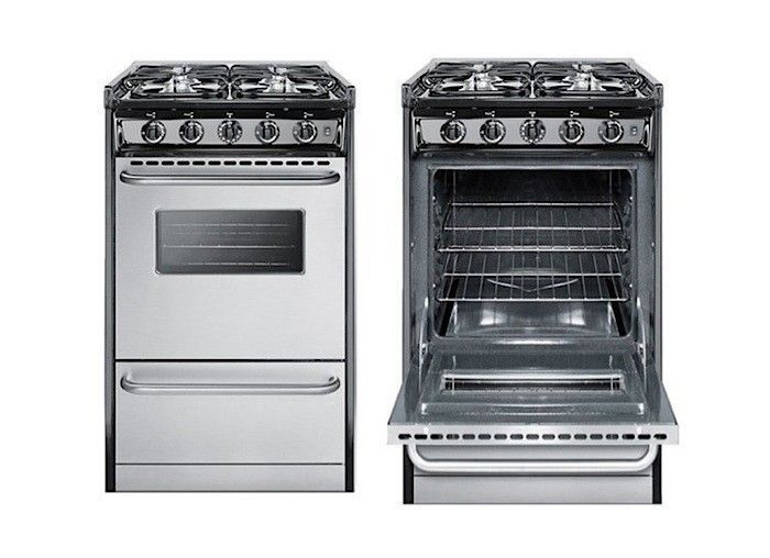 Summit-20-inch-gas-range-remodelsita Above: Super-small but well detailed, the Summit Professional 20-Inch Slide-In Gas Range (shown) has four burners, a 2.5-foot capacity oven, and a broiler drawer; $929 at AJ Madison. Limited to electric? Summit offers its electric professional-style ranges in 20-inch and 24-inch options. The Summit Professional Series 20-Inch Electric Range and the Summit Professional Series 24-Inch Electric Range in stainless steel feature four coil elements, towel bar…
