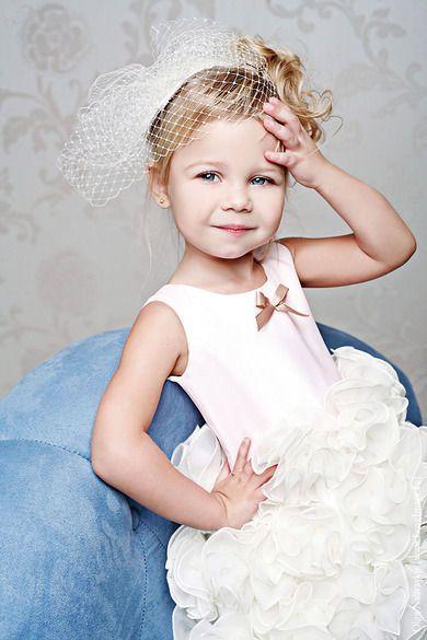 Клубничное мороженое нарядное платье - capelli bambini, flower girl dress
