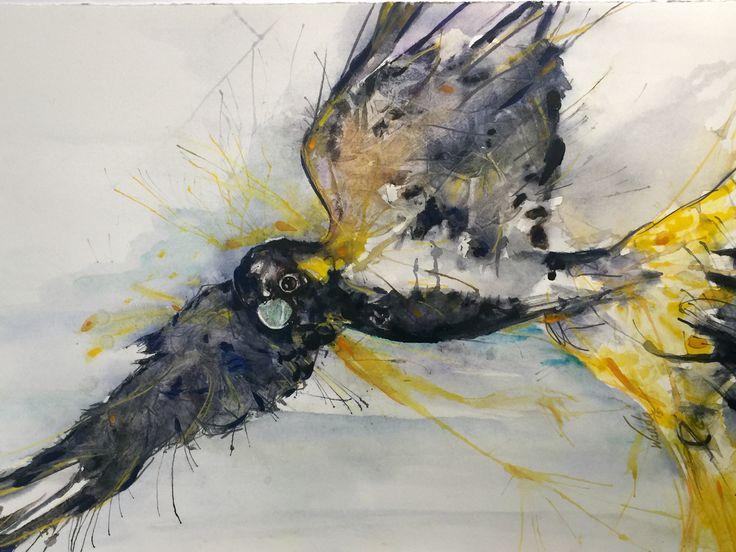 'Black and free' Watercolour  Artist: Wanda Stafford
