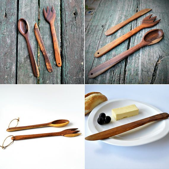 kitchen set wooden spoon fork and knife Rosewood Cook