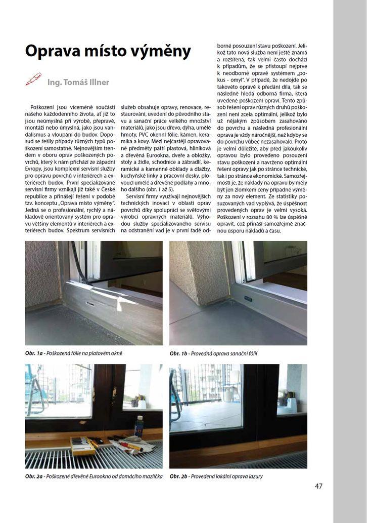 Náš článek v časopise Povrchové úpravy č. 3/2014 (1. část)