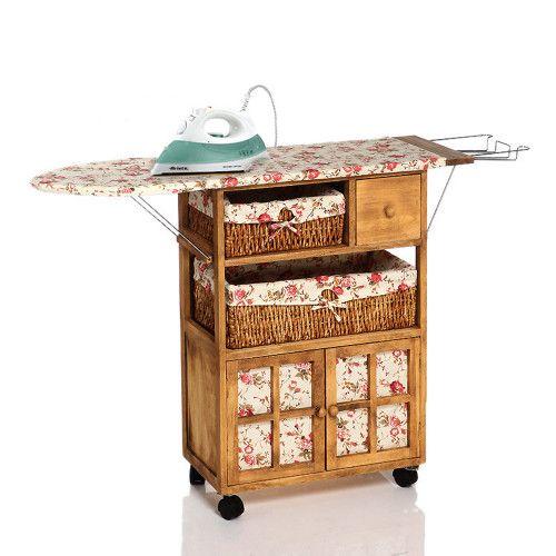 Fidex Home  Ahşap Dolaplı Ütü Masası-Açıkkahve -Ütü Hediyeli 339,99 TL