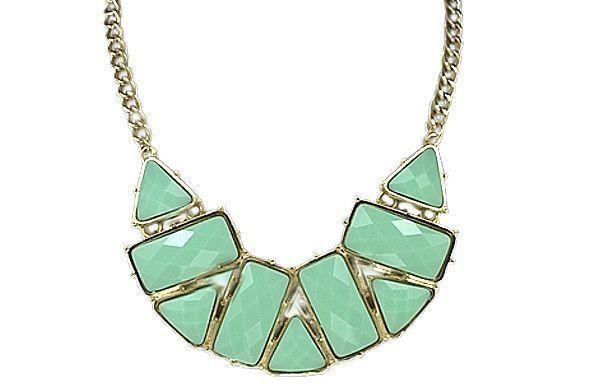mint mosaic necklace