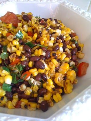 Grilled Corn  Black Bean Salad with Balsamic and Cilantro Dressing – Gluten Free | Summer fresh recipe. SO delish!!!