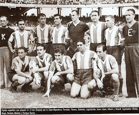 Argentina team group in 1943.