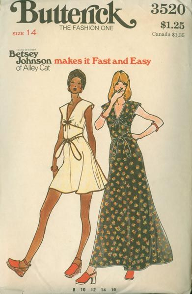 betsey johnson patterns vintage -made this 1975...so cute!!