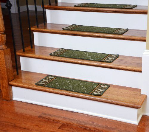 Best Washable Non Skid Carpet Stair Treads – Trellis Green 13 400 x 300