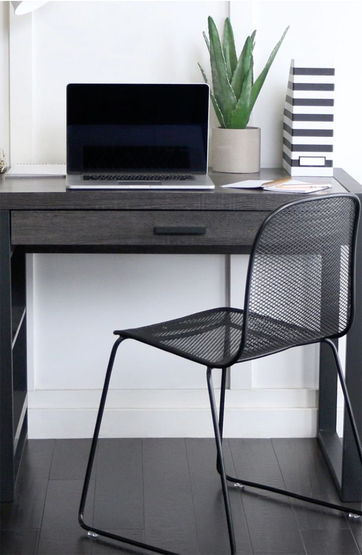 Complete your home office with this urban tech computer desk. The svelte work  desk features