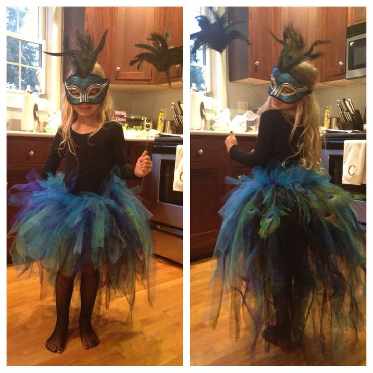 Peacock tutu I made for my daughter.