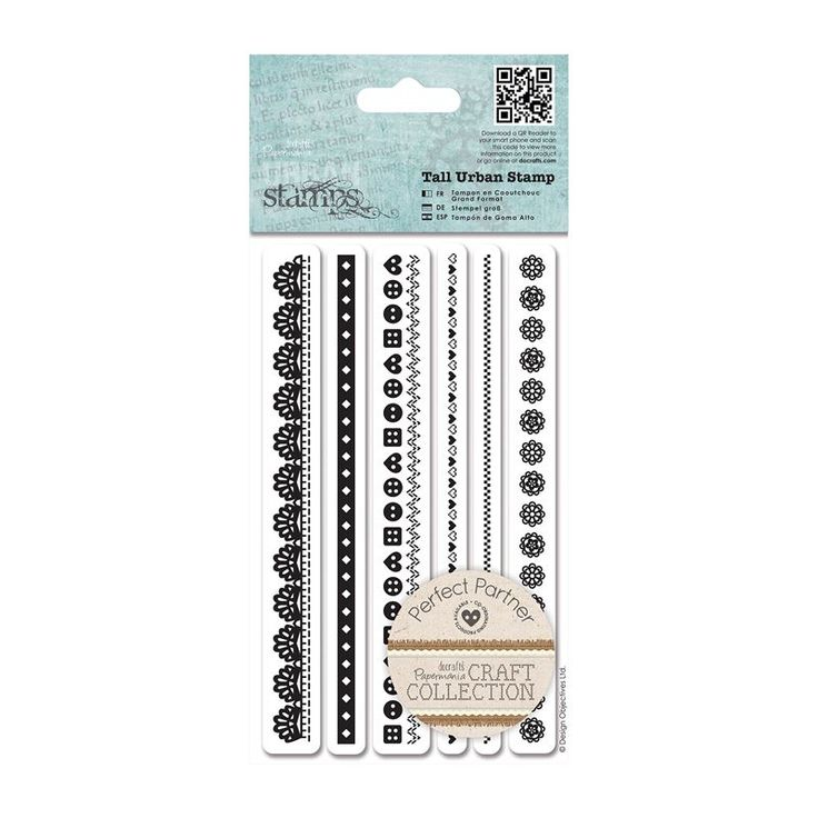 Tall Urban Stamp (6pcs) - Craft Collection - Pastels | docrafts.com