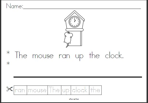 Collection Nursery Rhyme Worksheets Photos - Studioxcess