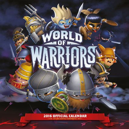 Official World of Warriors 2016 Calendar available from Publishers at https://www.danilo.com/Shop/Calendars/Gaming-Calendars