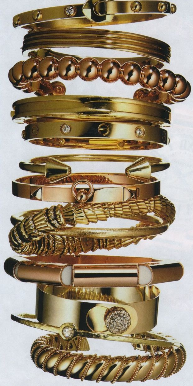 bangles.: Bangles Girls Accessories, Jewelry Gold Design, Bracelets Stacking, Gifts Bags, Jewelry Design, Gold Bracelets, Bangles Bracelets Cuffs, Accessories Collection, Gold Bangles