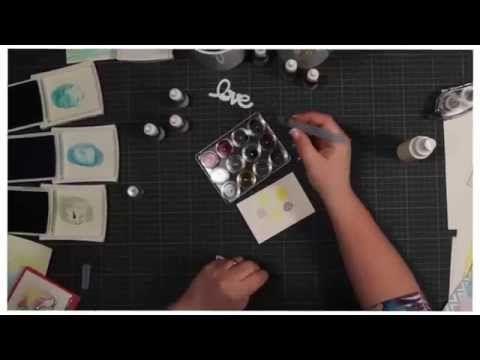 Trickkiste - Techniken rund ums Stempeln - Aquarell-Technik - YouTube