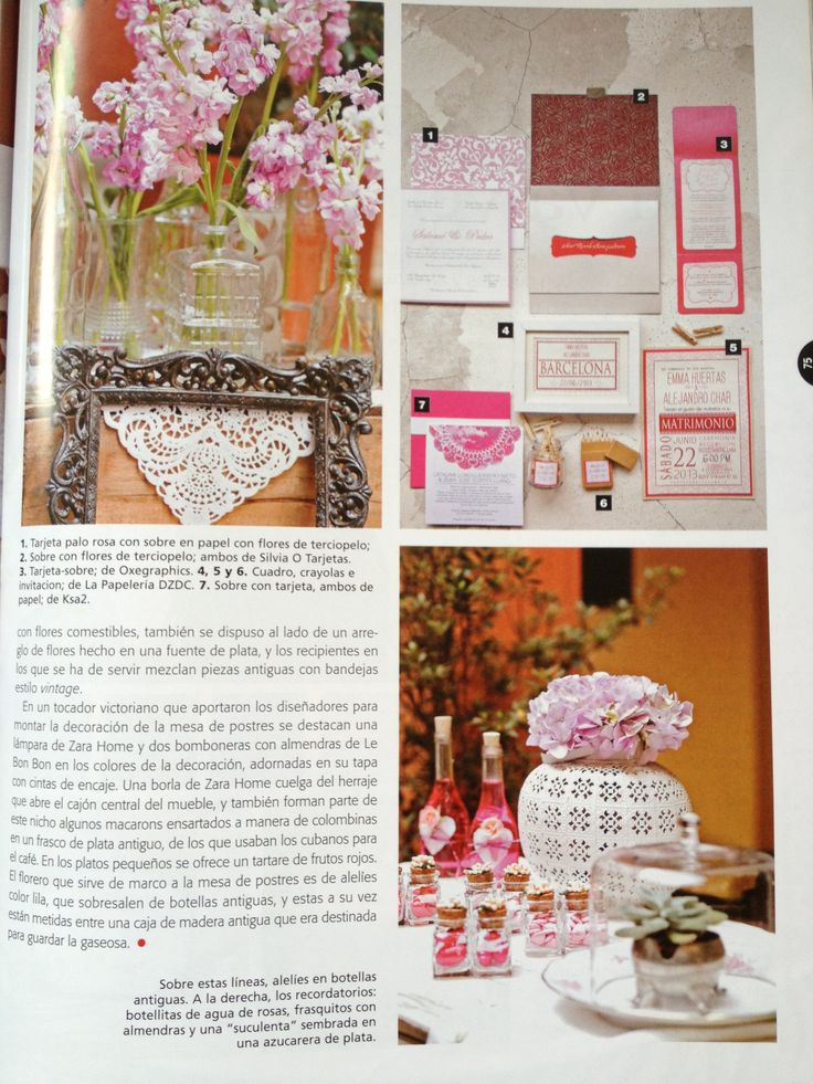 "Revista Fucsia Novias, Edición #20, 2013 Articulos ""Combinacion Perfecta"", by MY Group Eventos"