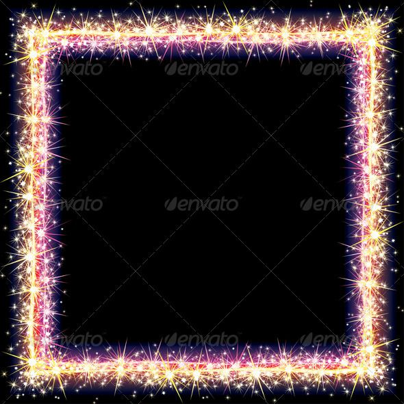Frame Sparks  #GraphicRiver         Bright Frame with Sparkles and Flares   – v… – Holly Jade O'Leary Ltd