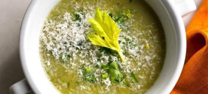 Σούπα με μπρόκολο και σέλινο