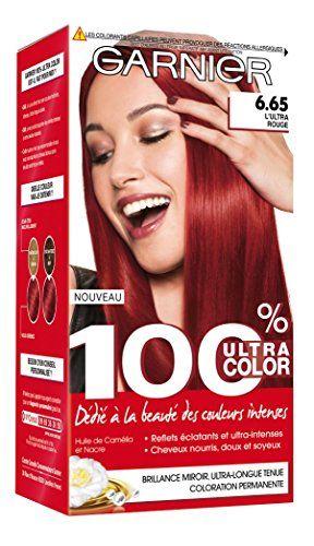 Garnier - 100% Ultra Color - Coloration permanente Rouge - 6.65 L'Ultra Rouge #Garnier #Ultra #Color #Coloration #permanente #Rouge #L'Ultra