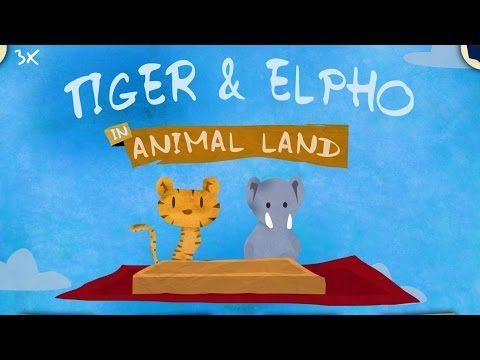Tiger & Elpho im Tierland - Kleinkinder Spiele App - Android, iPad, iPhone