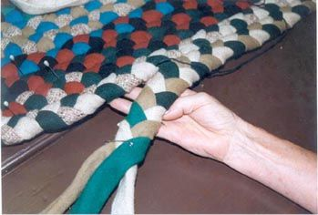 hand braiding rugs - she made hundreds of hand made braided rugs