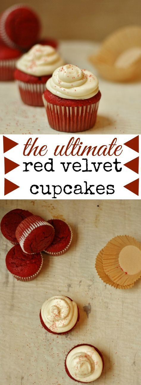 The ULTIMATE red velvet cupcake recipe. Rich and decadent with a silky cream cheese frosting! www.whatkumquat.com