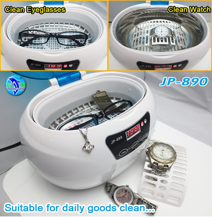 smart homemade ultrasonic cleaner to clean your eyeglasses,jewellery,watch band,ring,seal,etc...perfect with 3 minutes to get shiny image