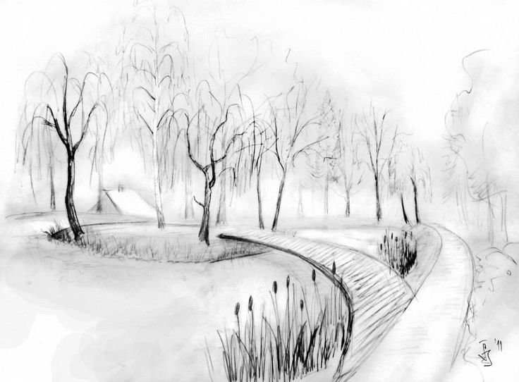 A sketch, from Jana Šebová diploma work (Arboretum in small town Liptovsky Hradok, Slovakia) and garden design, when she was on working stay in one landscape design studio in Czech republic.  -The LA Team  http://landarchs.com/sketchy-saturday-005/