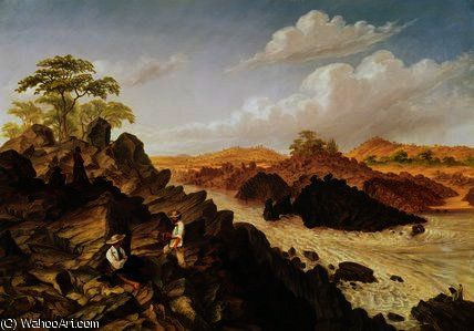 Shibadda ou deux canaux rapide au-dessus Kabrasa de Thomas Baines (1820-1875, United Kingdom)