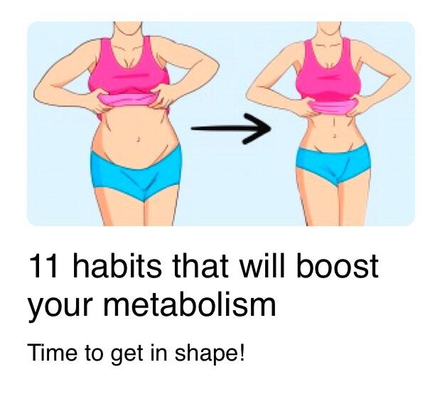 11 Habits That Will Boost Your Metabolism. #2017forthewin