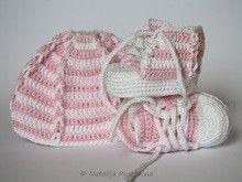 Häkelanleitung: Schuhe und Mütze - Set für Neugeborene