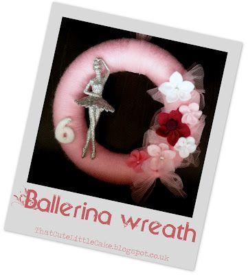 Ballerina yarn wreath @ thatcutelittlecake.blogspot.co.uk