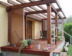 Ideální je použít na všechny prvky dřevo ve stejném odstínu ; KP-Terasy