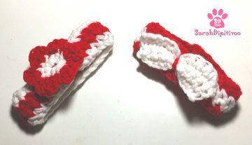 Peppermint Twist Hand Crocheted  Decorative Festive Dog Collar, Crochet Dog Accessory,Holiday Dog Collar, Christmas Dog Accessories,Dog Gift by SarahDipitiToo on Etsy