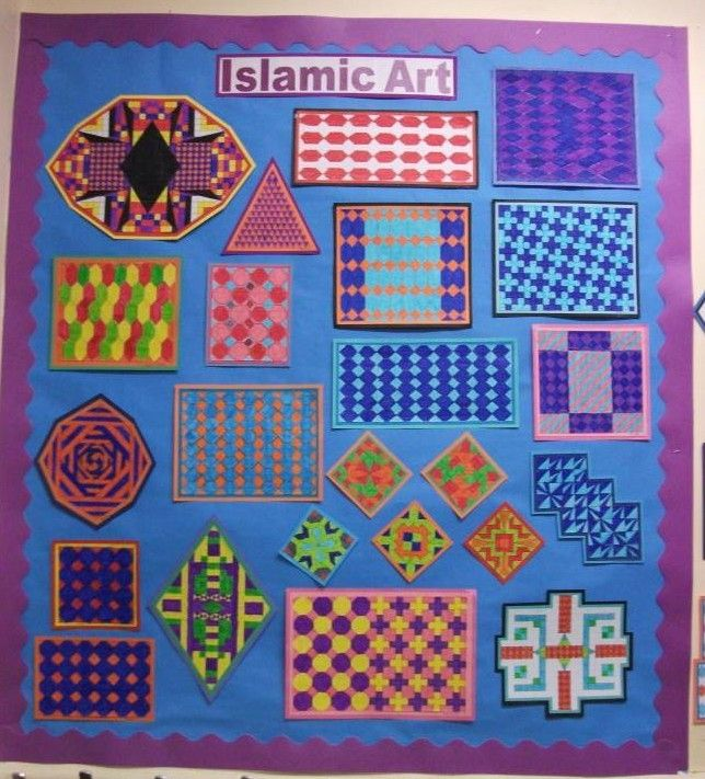 Beautiful Islamic Art Display from - Moorhouse Primary School