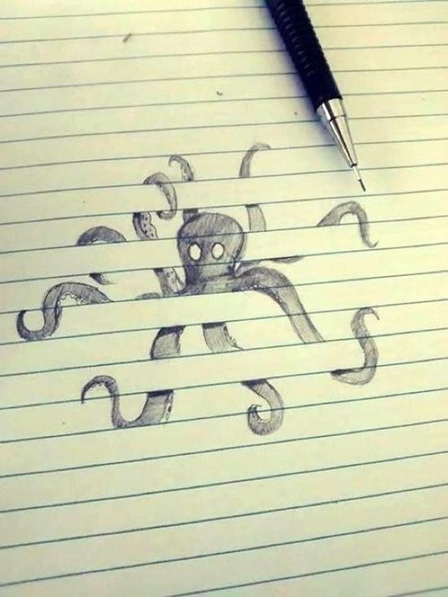 Usually when most of us are bored in a class room we tend to doodle on our notebook. It's a very common thing to do, but did you know that not all notebook doodle art are the same. Some Notebook doodles showcase high talent and creativity which makes the pencil or pen doodles look that pieces of of artwork which should be placed in an art gallery.