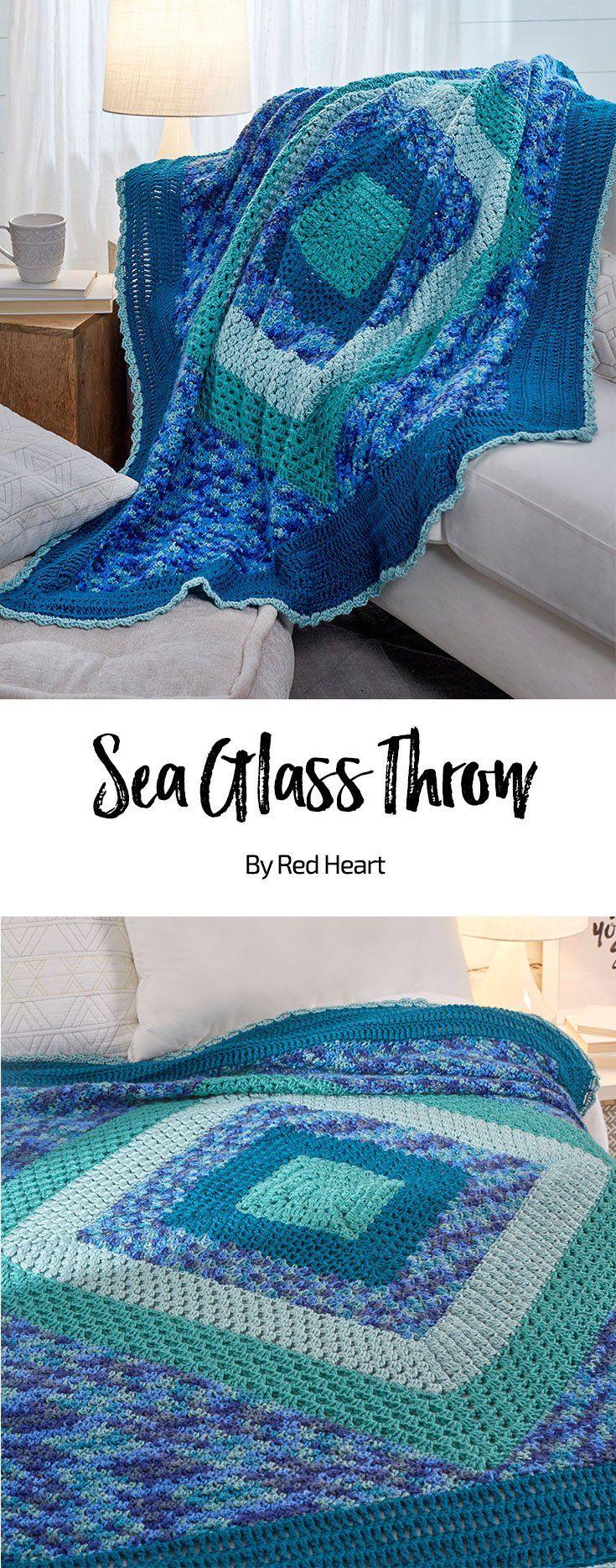 Sea Glass Throw free crochet pattern in Soft yarn.