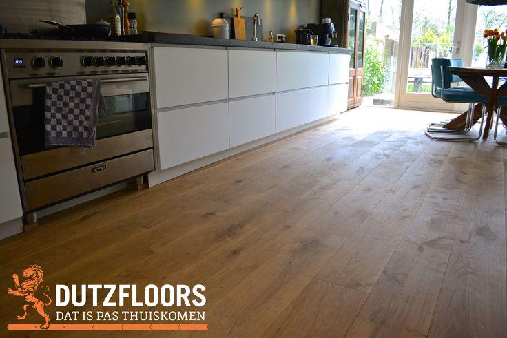 Rustieke houten vloer, perfect voor in de keuken!