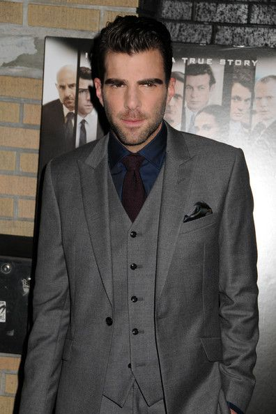 """Zachary Quinto at the New york premiere of """"Margin Call"""" at the Landmark Sunshine Theater in New York City."""