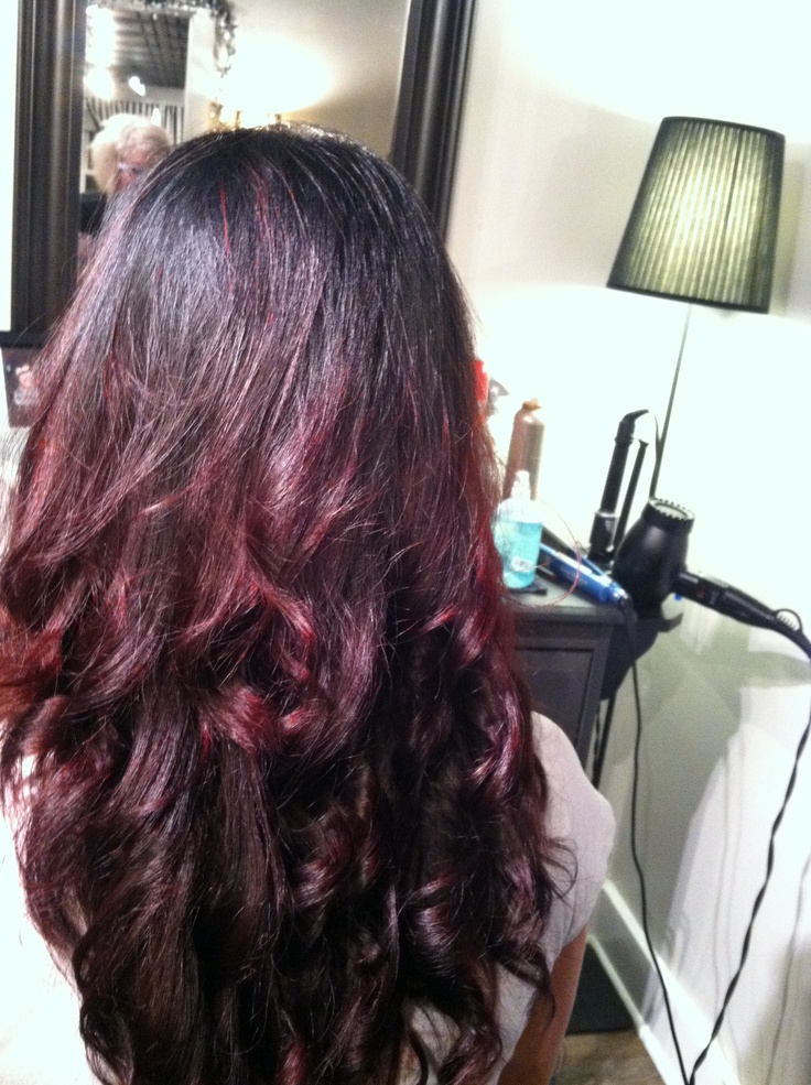 My new color  Black to red ombr  233 Black To Red Ombre