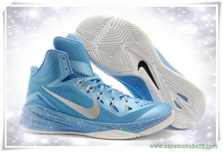 tenis de marca barato Masculino-Mulheres Nike Hyperdunk 2014 652482-127 Light Azul / Prata / Branco / Pale moon
