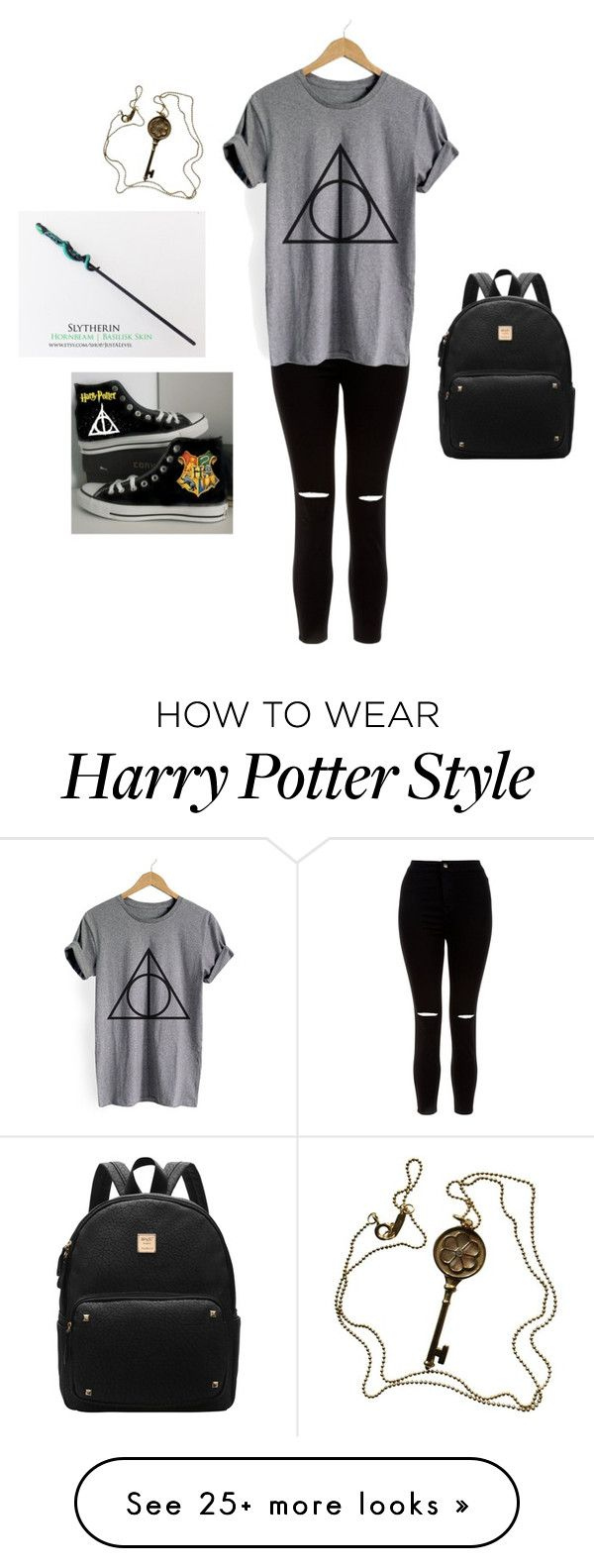 """Going to Harry Potter World"" by iamzcookie on Polyvore featuring Tiffany & Co., New Look and Converse"