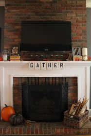 Hammers and High Heels: Gather 'Round Our Fall Fireplace Mantel