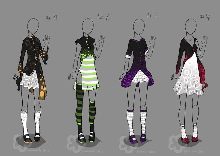 Fancy Glowing Dress Designs - for sale 1/4 by Nahemii-san.deviantart.com on @deviantART